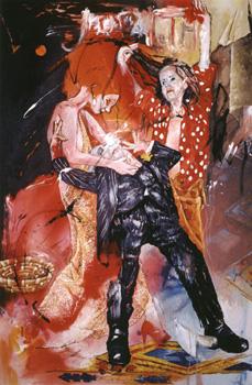 """""""Judith"""". Huile sur Toile 195 x 130 cm. 2004."""