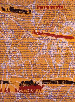Rachel et Léa Huile et acrylique sur toile. 130 x 97 cm