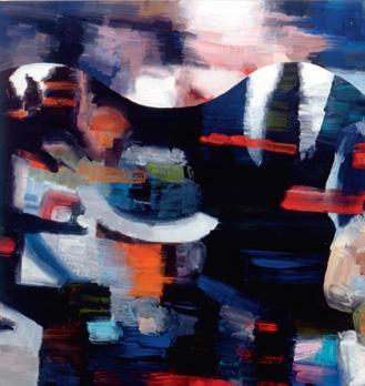 """""""Diana's Funeral"""". Acrylique sur toile. 178 x 203 cm."""