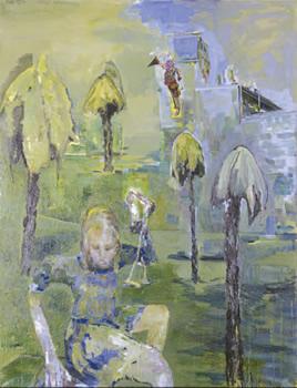 """""""Deborah"""". Huile sur toile. 170 x 130 cm."""