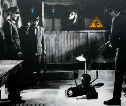"""""""Under Arrest"""". Acrylique sur toile. 165 x 200 cm."""