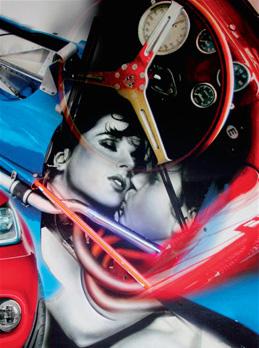 """""""First Love"""". Acrylique sur toile. 130 x 97 cm."""