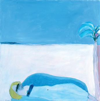 """""""Femme Voluptueuse sur un Sofa"""". Acrylique sur toile. 100 x 100 cm."""