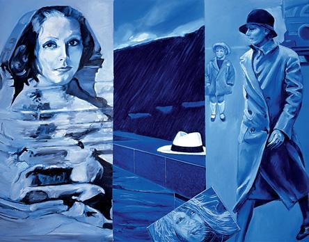 """""""Spéciale Greta Garbo"""". Huile sur toile. 115 x 145 cm."""
