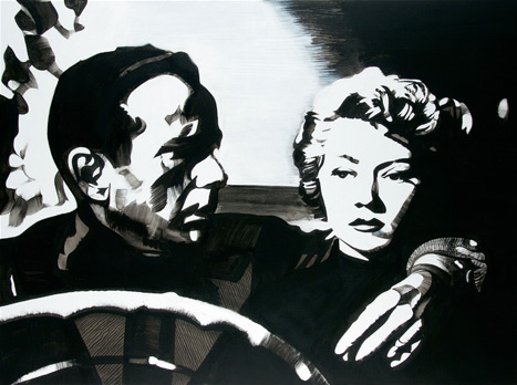 """Le Violent"" (""In a Lonely Place""). Acrylique sur toile. 97 x 130 cm."